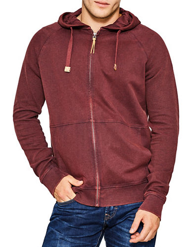 Esprit Full Zip Sweatshirt-RED-Small