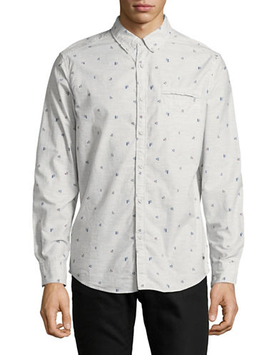 Esprit Woven Cotton Sport Shirt-GREY-X-Large