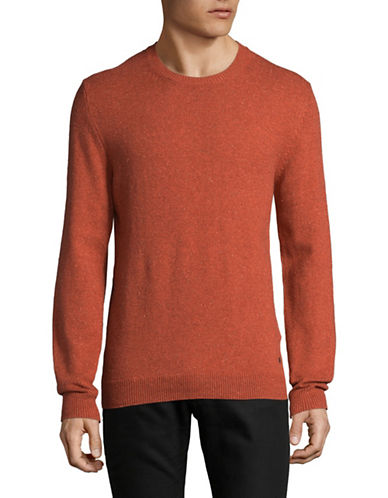Esprit Plain Sweater-ORANGE-Medium