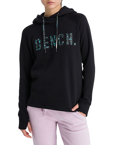 Bench Cotton-Blend Logo Hoodie-BLACK-Medium