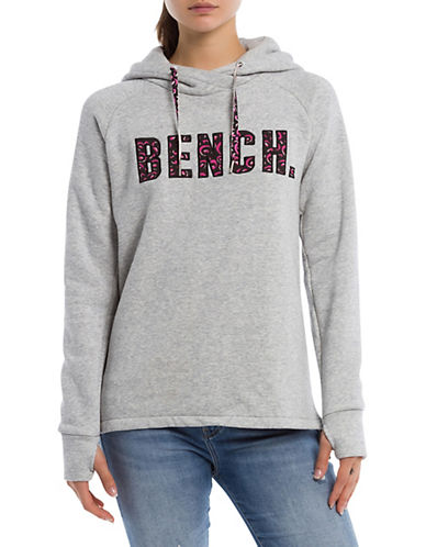 Bench Cotton-Blend Logo Hoodie-GREY-X-Small