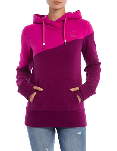 Bench Colourblock Hoodie-PURPLE-Small