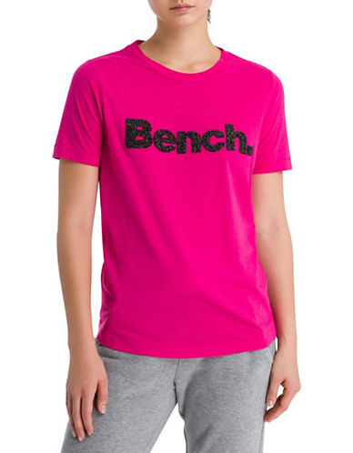 Bench Spacedye Logo Tee-PINK-X-Small