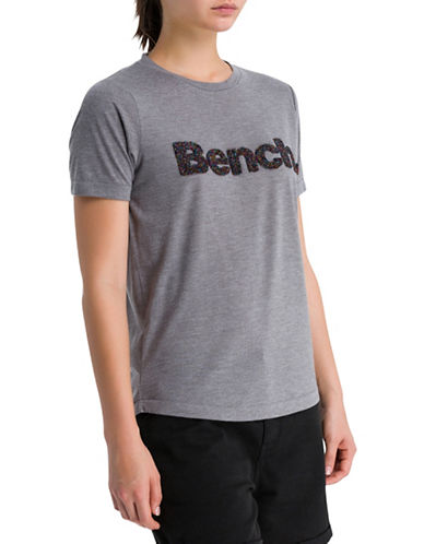Bench Spacedye Logo Tee-GREY-X-Large
