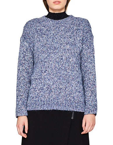 Esprit Chunky Knit Sweater-BLUE-Medium