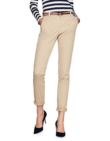 Esprit Belted Chino Pants-BEIGE-34