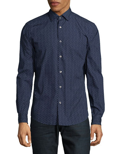 Esprit Cotton Sport Shirt-BLUE-Small