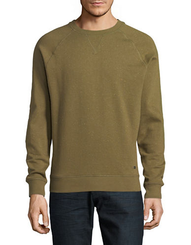 Esprit Cotton Crew Sweater-GREEN-Medium