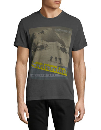 Esprit Graphic Cotton Tee-GREY-Small 89665193_GREY_Small