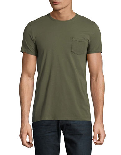 Esprit Short Sleeve Cotton Tee-GREEN-Small