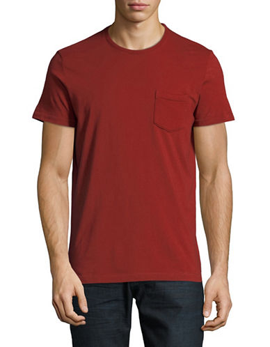 Esprit Short Sleeve Cotton Tee-RED-X-Large