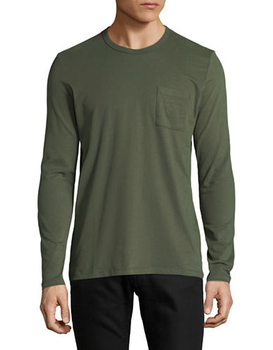 Esprit Long Sleeve Cotton Tee-GREEN-Small
