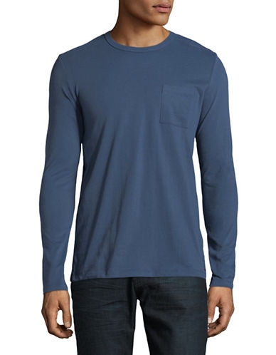 Esprit Long Sleeve Cotton Tee-BLUE-Medium