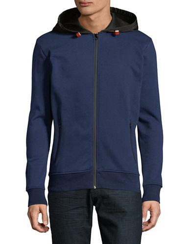 Esprit Fleece Lined Zip Sweatshirt-BLUE-Small
