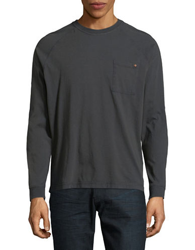 Esprit Cotton Long Sleeve Tee-GREY-Large