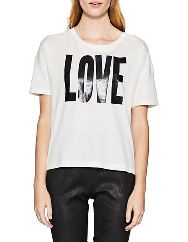 Esprit Love Hi-Lo Tee-WHITE-Large