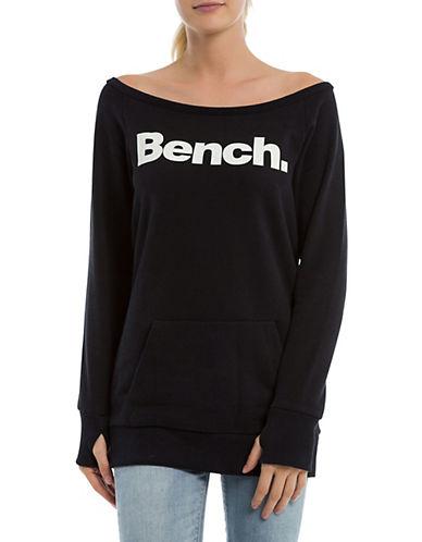 Bench Logo Raglan-Sleeve Sweatshirt-BLACK-X-Small 89988098_BLACK_X-Small