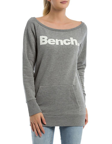 Bench Logo Raglan-Sleeve Sweatshirt-GREY-Medium 89988105_GREY_Medium