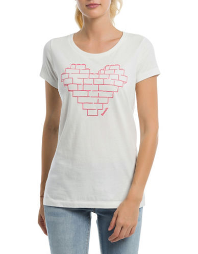 Bench Heart-Print Cotton Tee-WHITE-Large 89988136_WHITE_Large