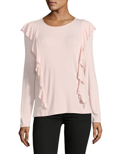 Esprit Long-Sleeve Ruffle Tee-PINK-Small 89859309_PINK_Small