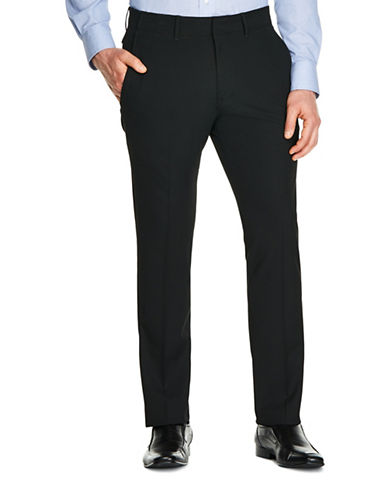 Kenneth Cole Reaction Techni-Cole Slim-Fit Trousers-BLACK-34X30