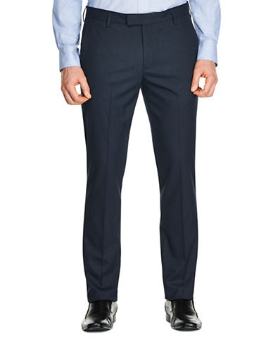 Kenneth Cole Reaction Houndstooth Dress Pants-BLUE-38X32