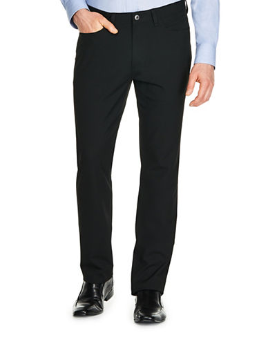 Kenneth Cole Reaction Techni-Cole Bi-Stretch Dress Pants-BLACK-36X30