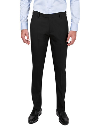Kenneth Cole Reaction Twill Slim-Fit Dress Pants-BLACK-38X32
