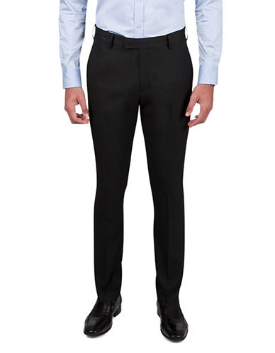 Kenneth Cole Reaction Micro Neat Trousers-BLACK-30X30