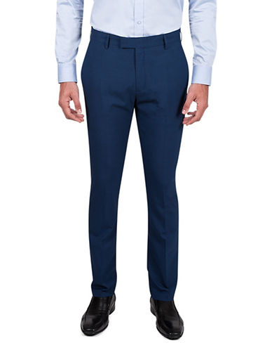 Kenneth Cole Reaction Slim-Fit Trousers-BLUE-36X32