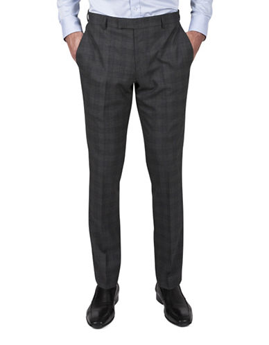 Kenneth Cole Reaction Heathered Suit Pants-GREY-36X30