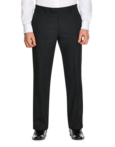 Kenneth Cole Reaction Mini Gingham Slim-Fit Suit Pants-GREY-34X30