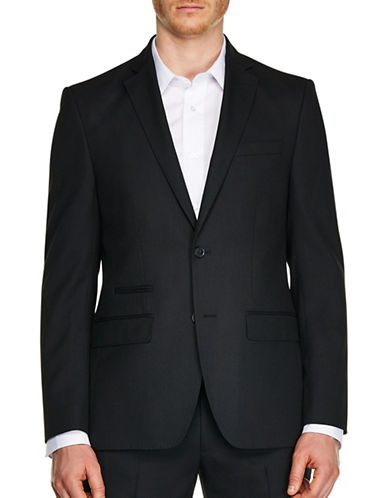 Kenneth Cole Reaction Micro Dot Stretch Slim-Fit Suit Jacket-BLACK-36 Regular