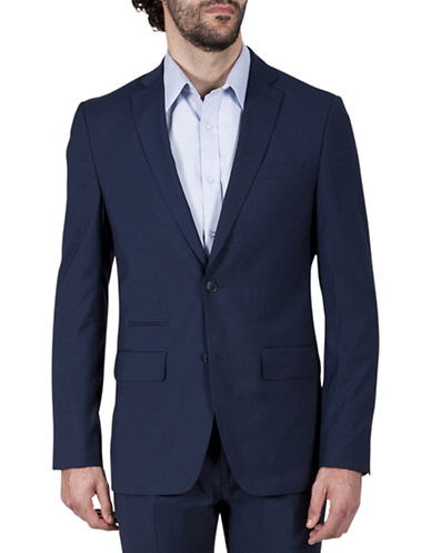 Kenneth Cole Reaction Micro Grid Jacket-BLUE-46 Regular