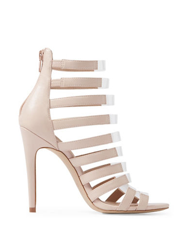 Aldo Daysie Caged High Heel Sandals-BONE-8