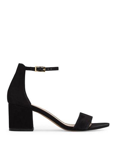 Aldo Villarosa Block Heel Leather Sandals-BLACK-9