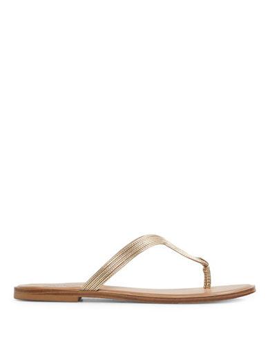 Aldo Orietta Flat Thong Sandals-GOLD-6