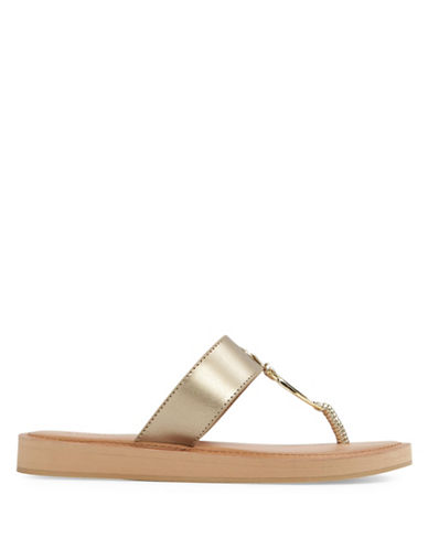Aldo Zoanna Flat Thong Sandals-GOLD-6