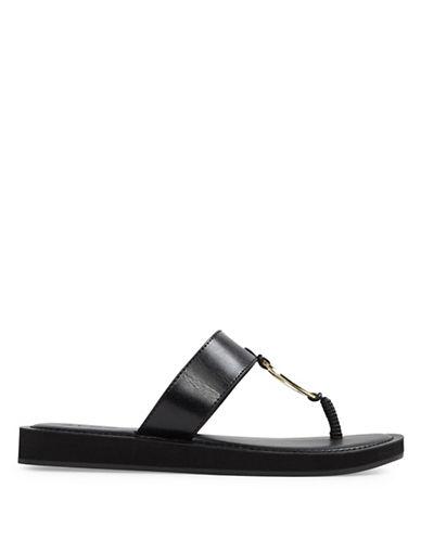 Aldo Zoanna Flat Thong Sandals-BLACK-8.5