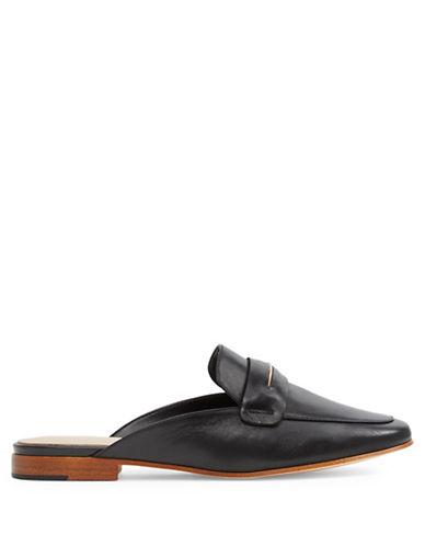 Aldo Shahan Flat Leather Mules-BLACK-8