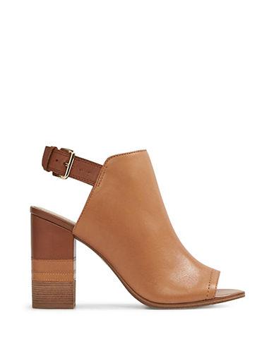 Aldo Cartiera Leather Block Heel Sandals-CAMEL-9