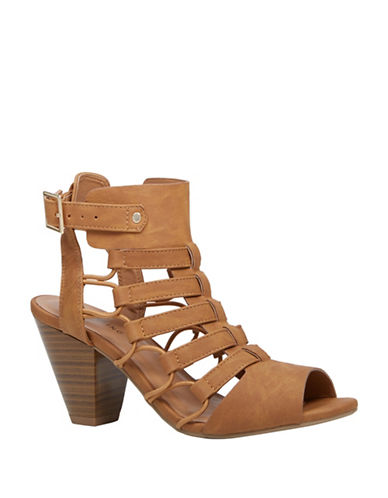 Call It Spring Goba Cut-Out Mid-Heeled Sandals-BEIGE-6.5