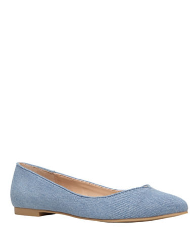 Call It Spring Edeille Pointy-Toe Flats-BLUE-10