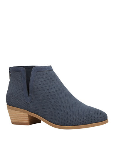 Call It Spring Schlager Perforated Ankle Boots-BLUE-8