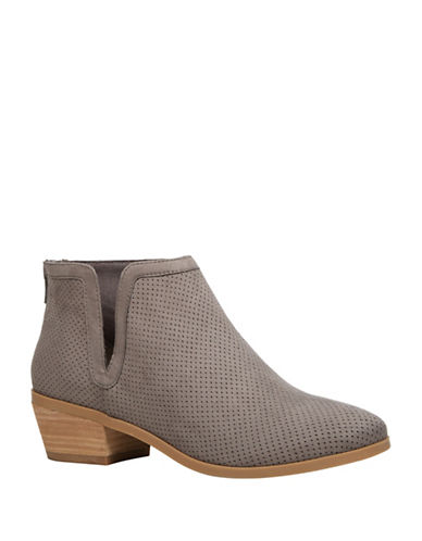 Call It Spring Schlager Perforated Ankle Boots-GREY-9