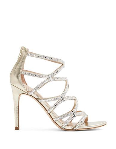 Aldo Liah High Heel Caged Sandals-GOLD-10
