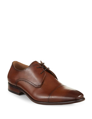 Pegabo Blackley Leather Cap-Toe Shoes-COGNAC-EU 42/US 9