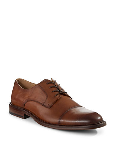 Pegabo Agrilasa Leather Derby Shoes-BROWN-EU 43/US 10