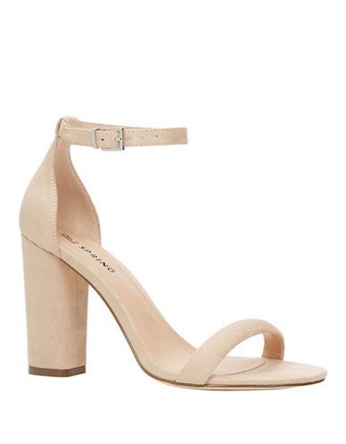 Call It Spring Brelawien Block High Heel Sandals-NUDE-7