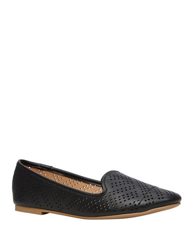 Call It Spring Newport Beach Lasercut Loafers-BLACK-8